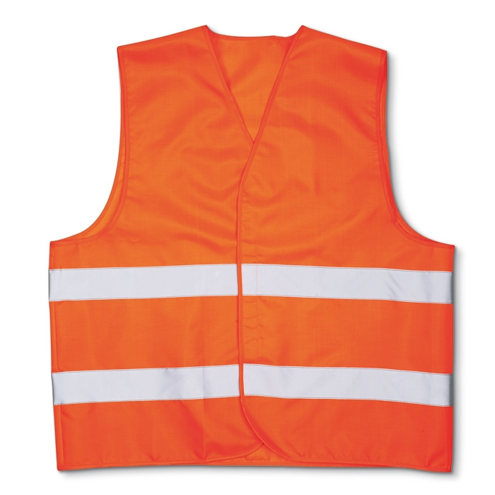 Жилет безопасности Carlife XL светоотражающий оранжевый (WJ101)