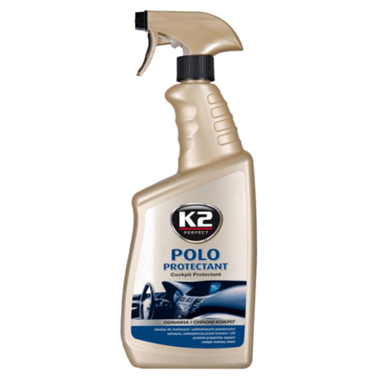 Полироль торпеды молочко K2 POLO PROTECTANT без запаха мат 750 ml