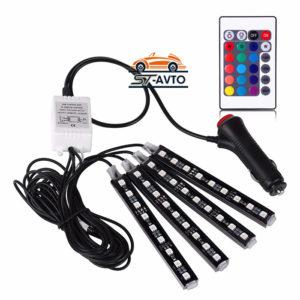 Разноцветные LED подсветки, стопы и габариты с пультом